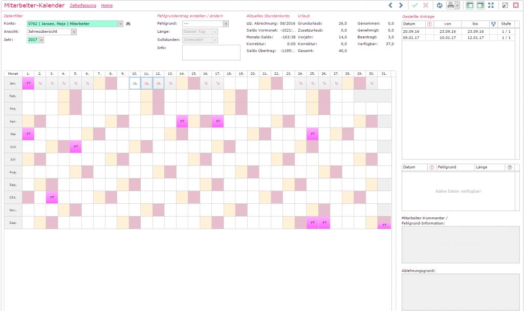 Mitarbeiter-Kalender